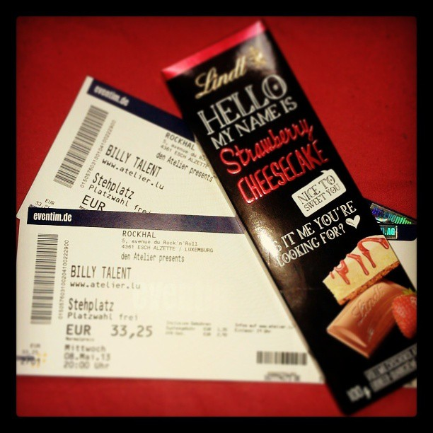His Gift: Billy Talent Tickets & Lindt