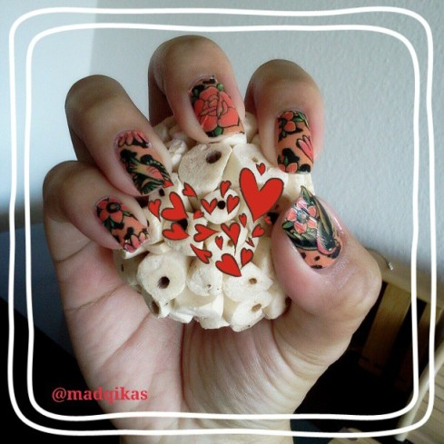 Lounge Leopard Nail Sticker, taken from my Instagram